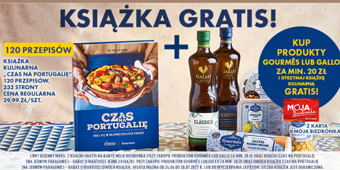 Biedronka: Gratis książka przy zakupie produktów Gourmês lub Gallo 24.06.2021