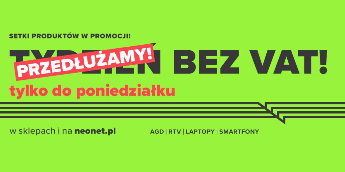 Neonet:  Tydzień bez VAT 25.02.2021