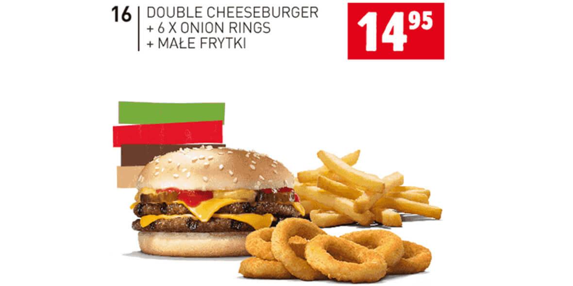 za Double Cheeseburger+6x Onion Rings i inne