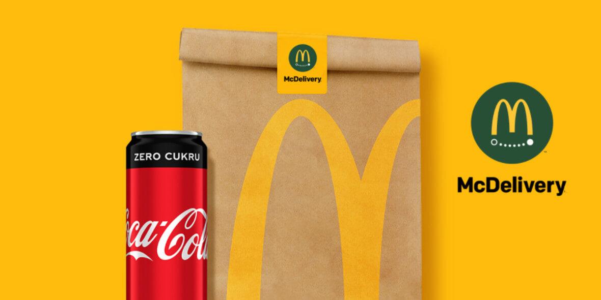 McDonald's: Gratis Coca Cola® Zero w dostawie