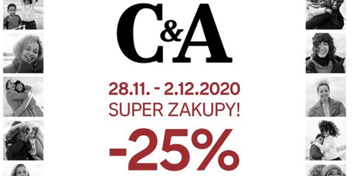 C&A: -25% na wszystko 28.11.2020