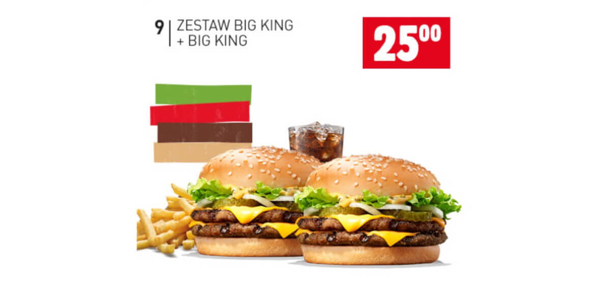 za zestaw Big King + Big King