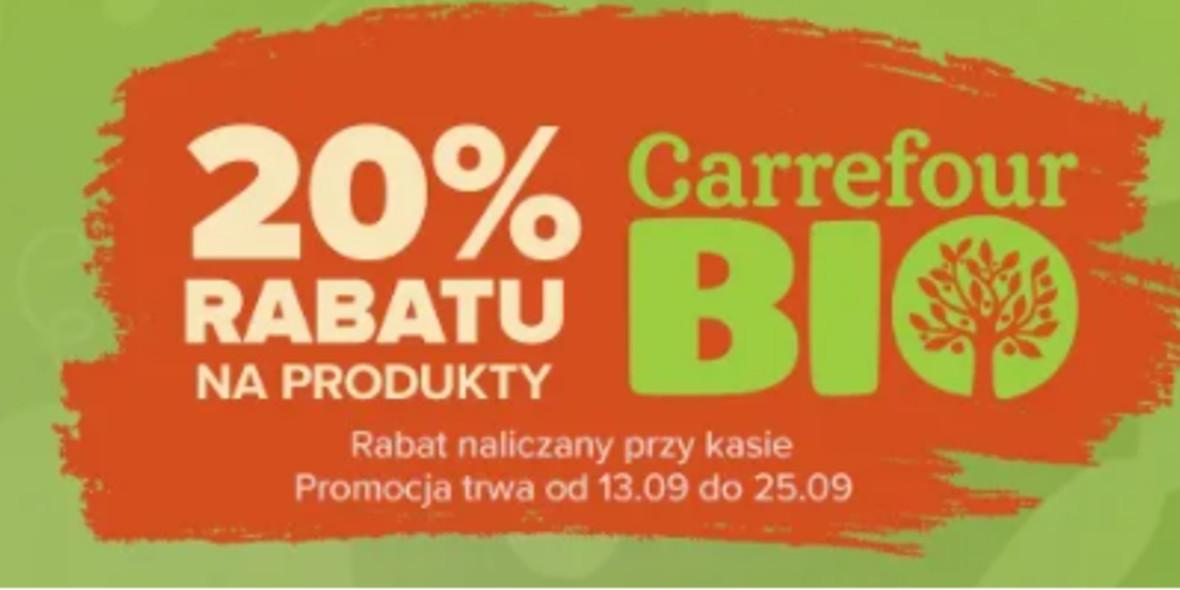 Carrefour: -20% na produkty Carrefour BIO 14.09.2021
