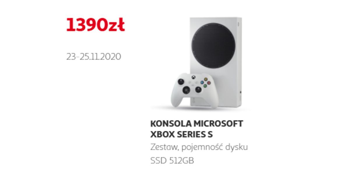 Auchan: 1390 zł za konsole Microsoft Xbox Series S 23.11.2020