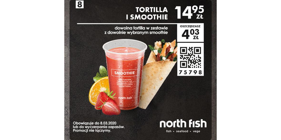 Tortilla i smoothie