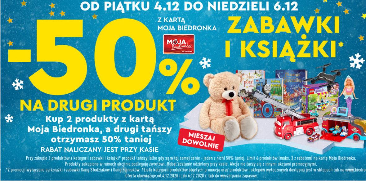 Biedronka: -50% na zabawki i książki 04.12.2020