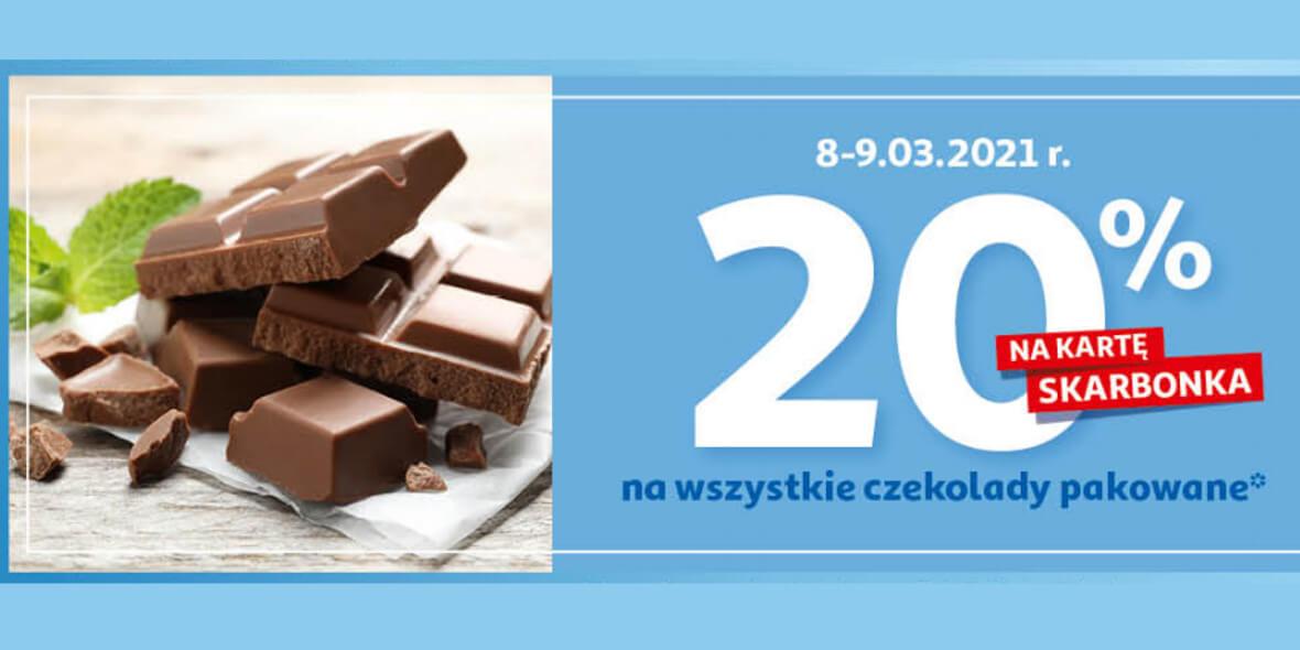 Auchan: 20% zwrotu na kartę Skarbonka na czekolady pakowane 08.03.2021