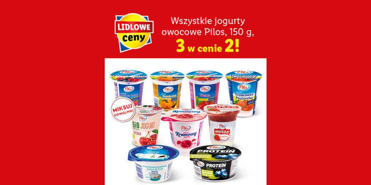 Lidl: 3 w cenie 2 na jogurty Pilos 25.01.2021