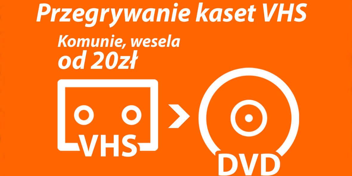 Studio SIM: -15% na przegrywanie kaset VHS na DVD powyżej 5 sztuk 13.12.2018
