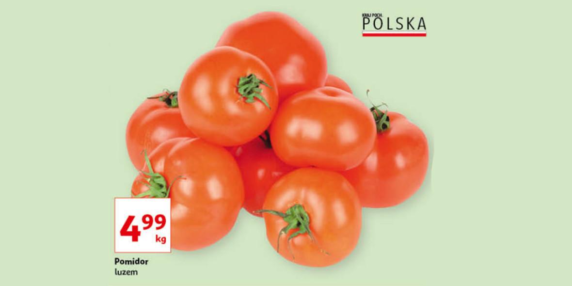 Auchan: 4,99 zł za kilogram pomidorów 21.10.2021