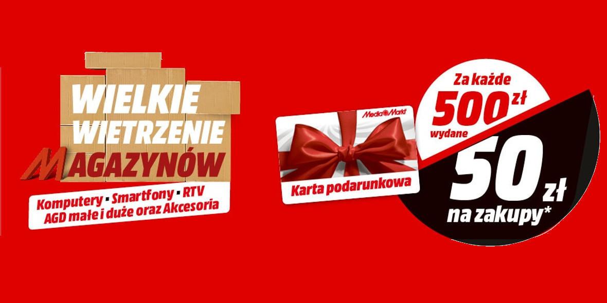 Media Markt: -50 zł za każde wydane 500 zł 20.09.2021