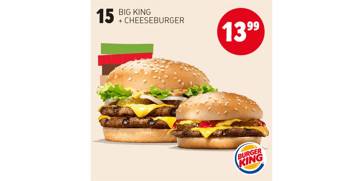 za Big King + Cheeseburger