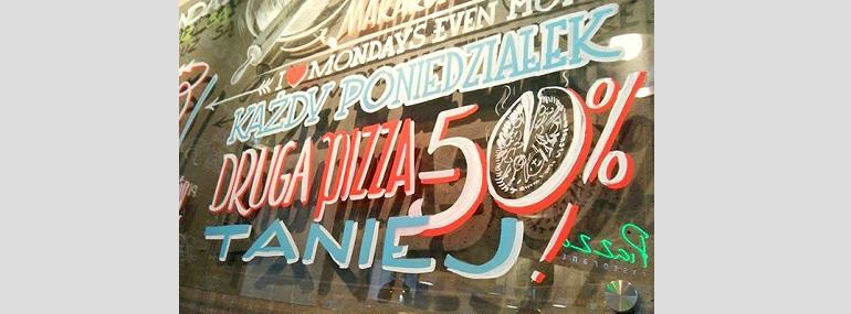 -50% na drugą pizzę