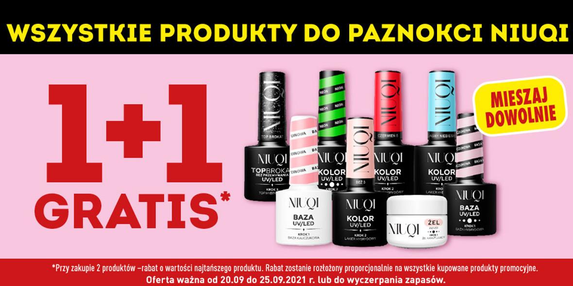 Biedronka: 1 + 1 wszystkie produkty do paznokci Niuqi 20.09.2021