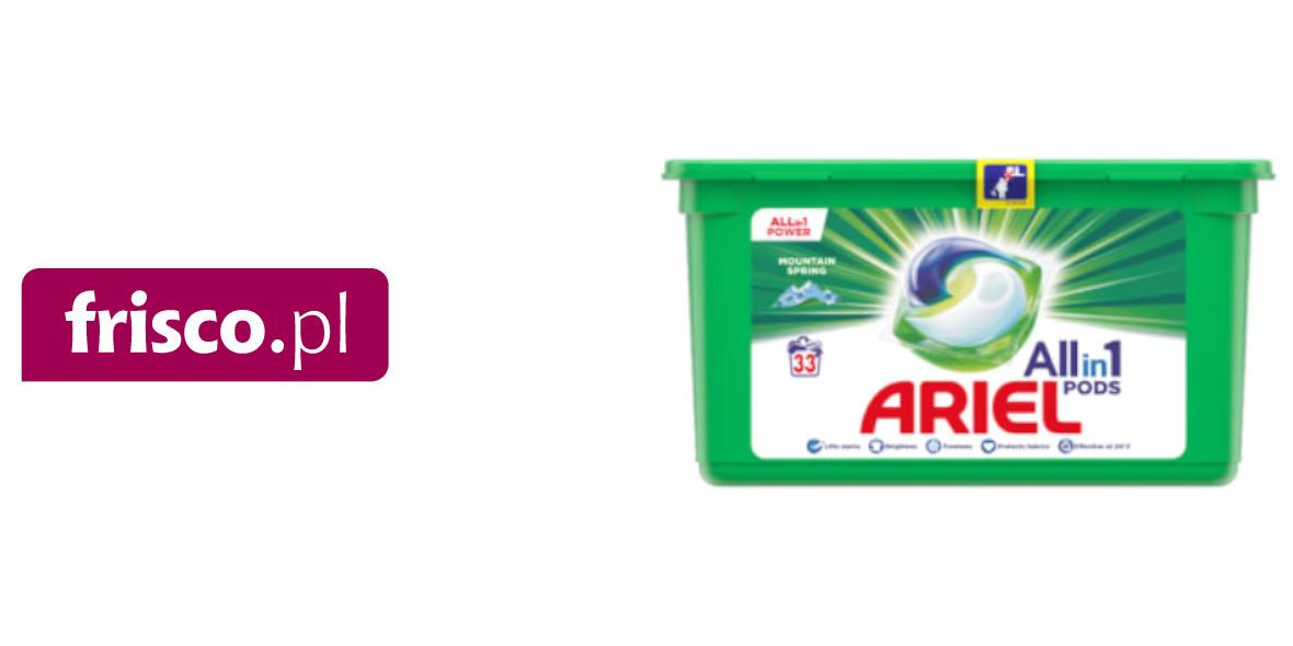 Frisco: -33% na kapsułki do prania Ariel 10.05.2021