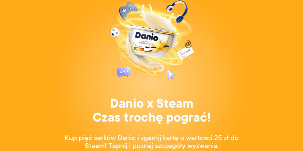 Żabka: 25 zł na Steam przy zakupie serków Danio 16.09.2021