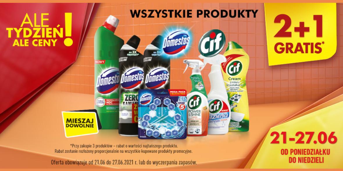 Biedronka: 2 + 1 na produkty do sprzątania 21.06.2021