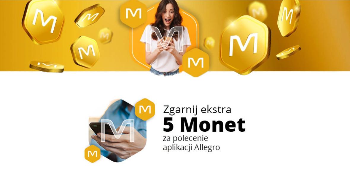 Allegro.pl: +5 Monet za polecenie aplikacji mobilnej Allegro 02.01.2021