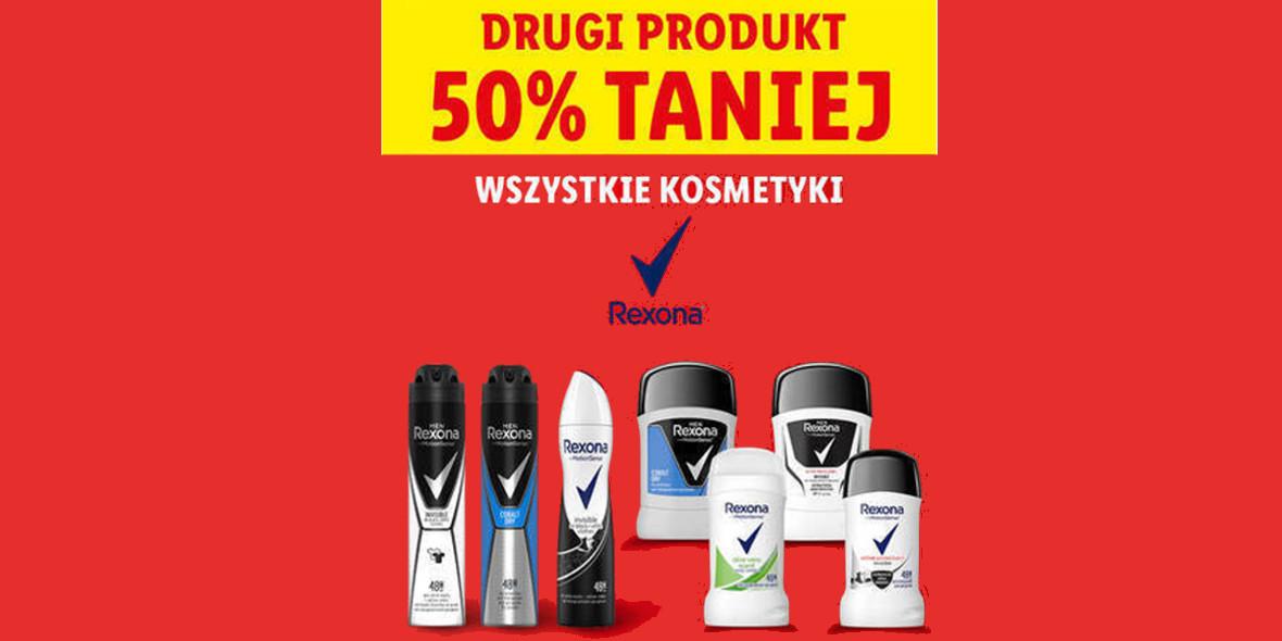 Lidl: -50% na wszystkie kosmetyki Rexona 20.09.2021