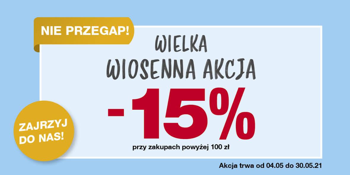 KiK:  -15% przy zakupach powyżej 100 zł 04.05.2021