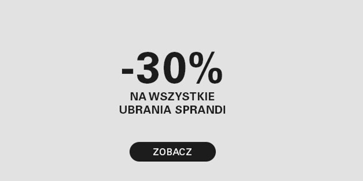 CCC:  -30% na wszystkie ubrania marki Sprandi 13.10.2021