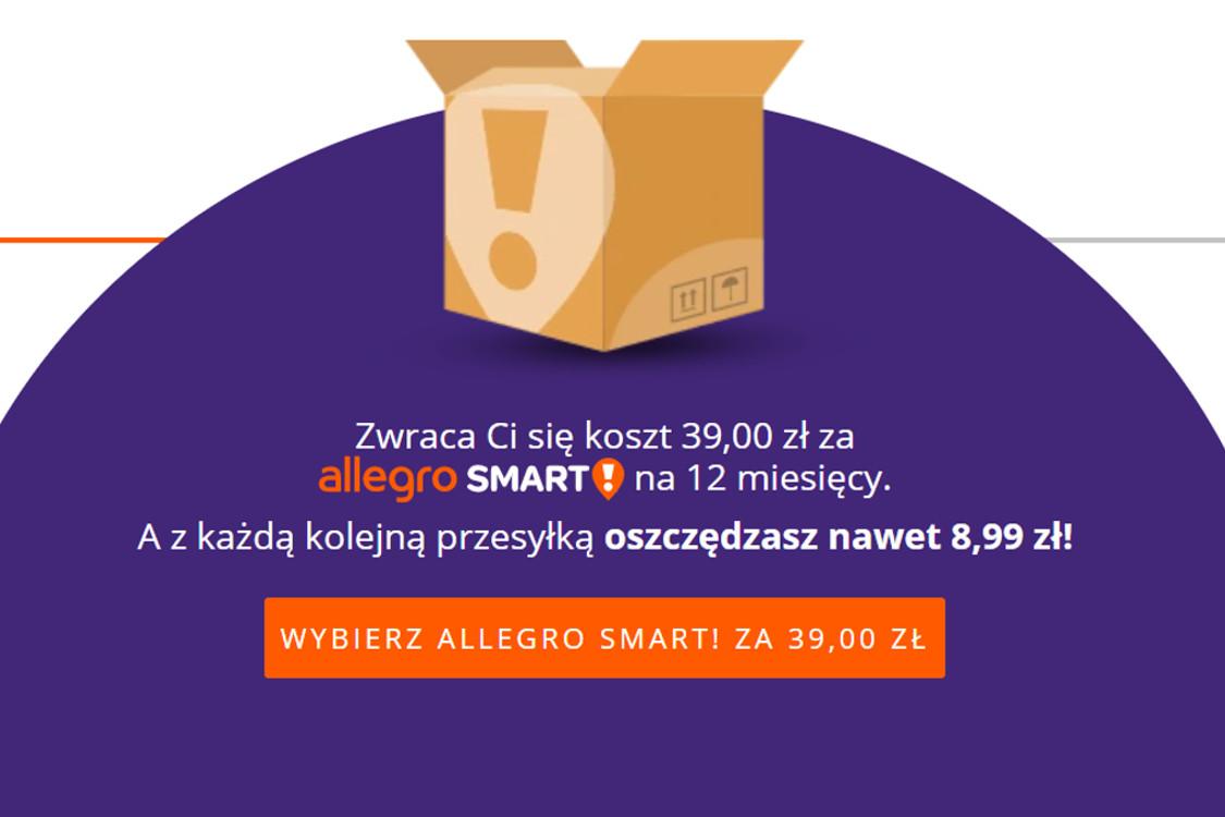 Allegro.pl: -10 zł -10 zł za Allegro Smart 24.11.2020