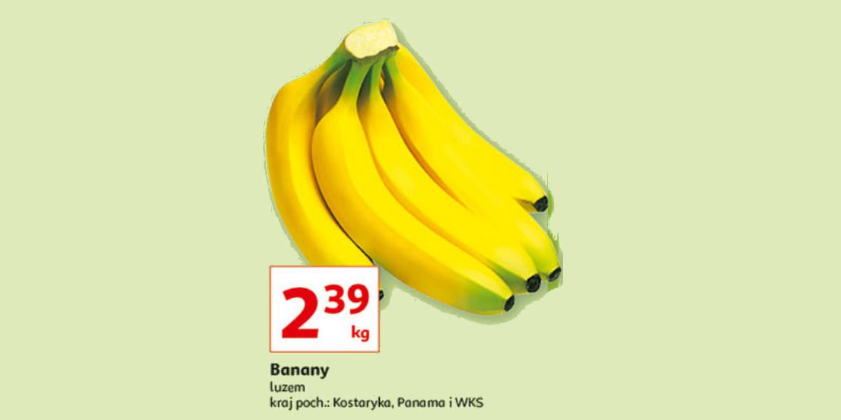 Auchan: 2,39 zł za banany 1 kg 16.09.2021