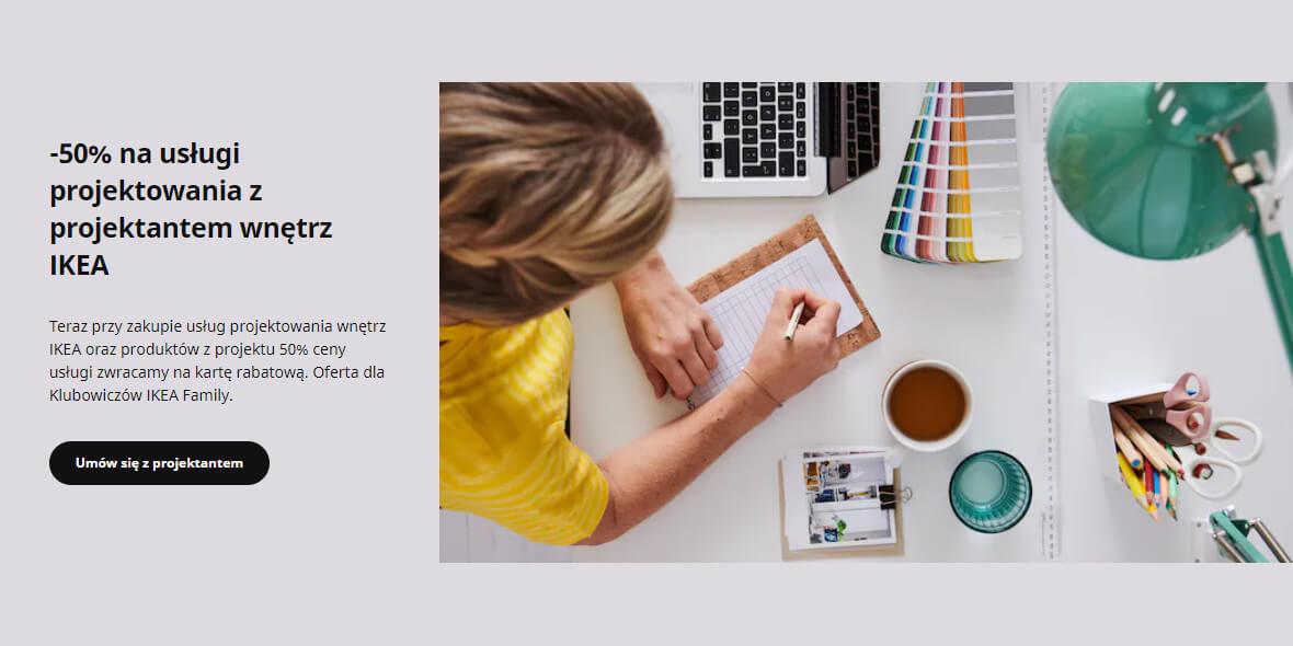IKEA:  -50% na usługi projektowania 01.06.2021