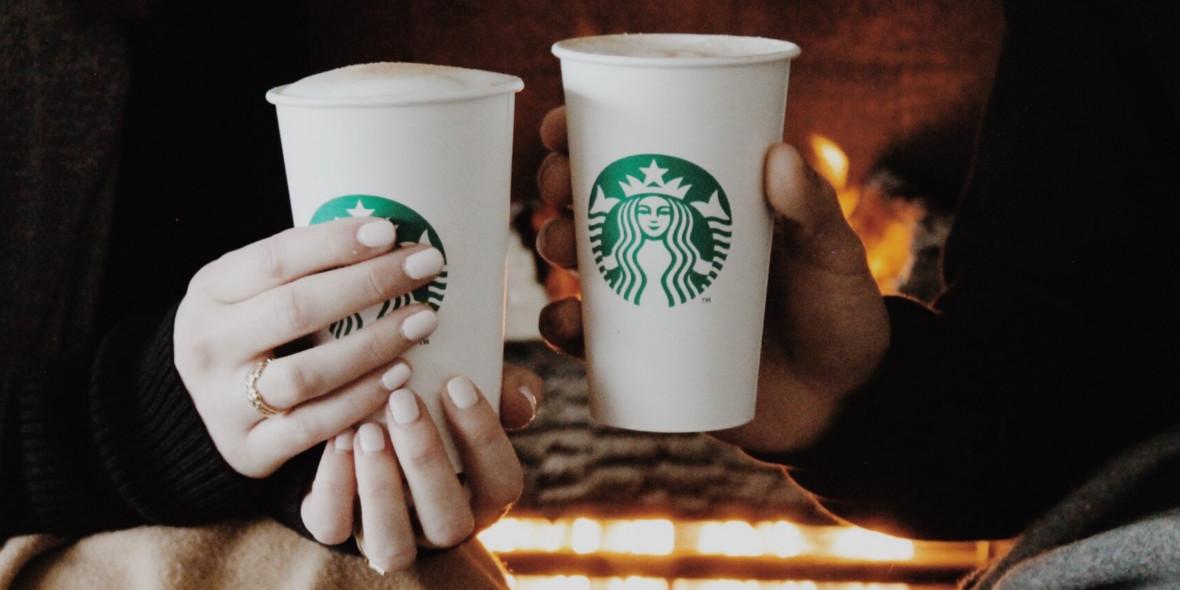 na drugą kawę przy zakupie dwóch grande latte