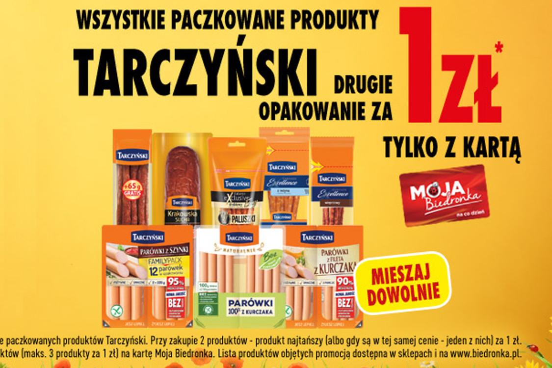 1 zł za produkty Tarczyński