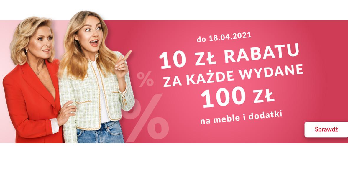Agata Meble: -10 zł za każde wydane 100 zł 10.04.2021