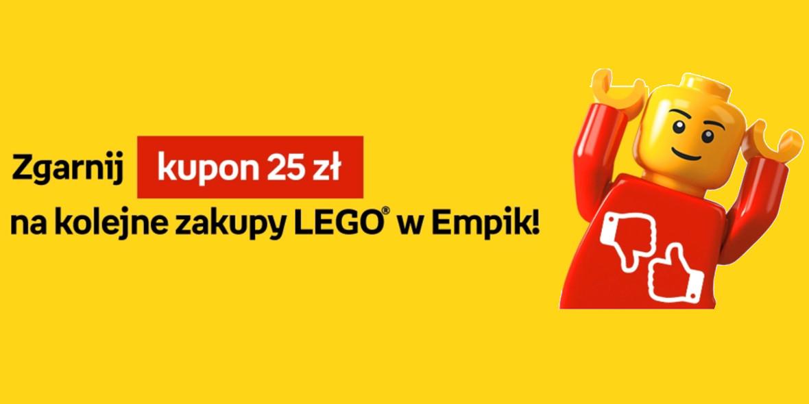 Empik: Kupon 25 zł na kolejne zakupy LEGO® w Empik 07.09.2021