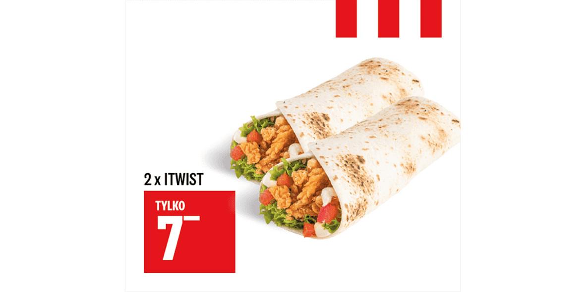 KFC: 7 zł 2 x iTwist 30.12.2020