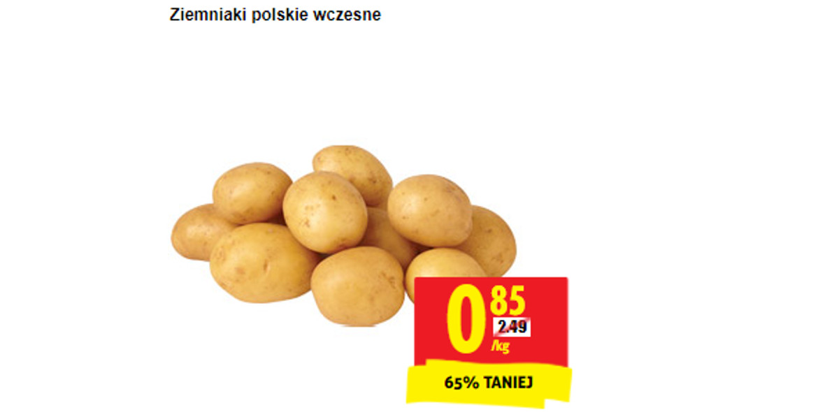 Biedronka: -65% na ziemniaki wczesne 05.08.2021