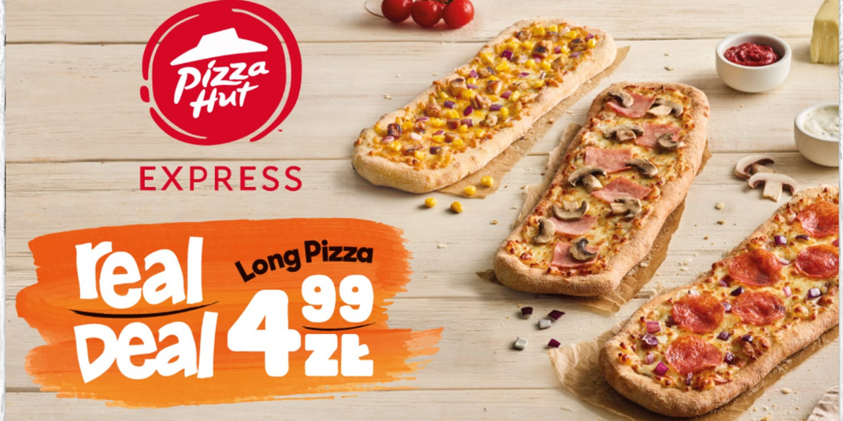 Pizza Hut Express: 4,99 zł za Long Pizza 25.11.2019
