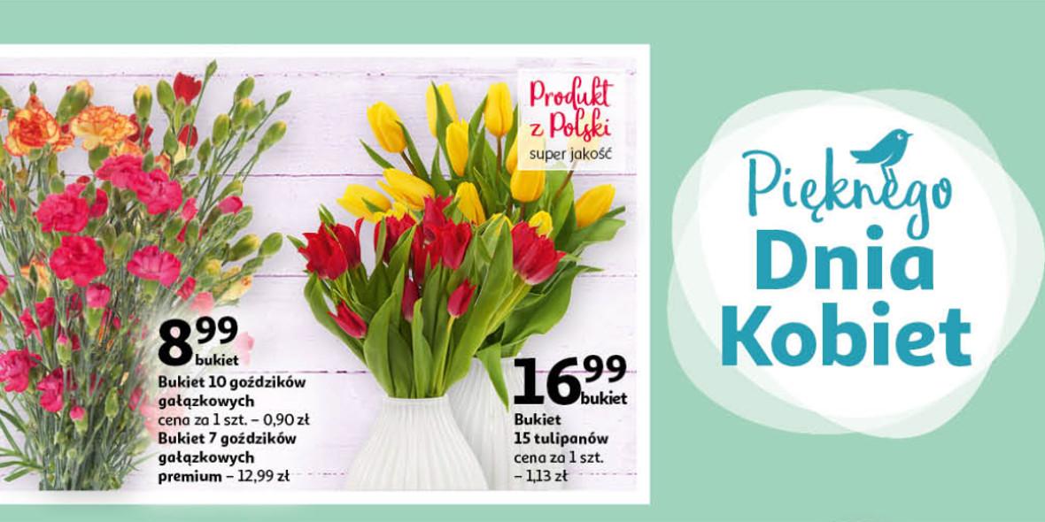 Auchan: Od 7,99 zł za kwiatka dla Niej 04.03.2021