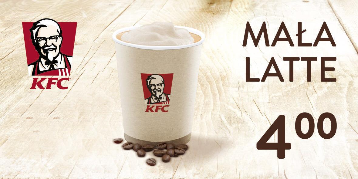 KFC: 4 zł za małe latte 09.10.2018