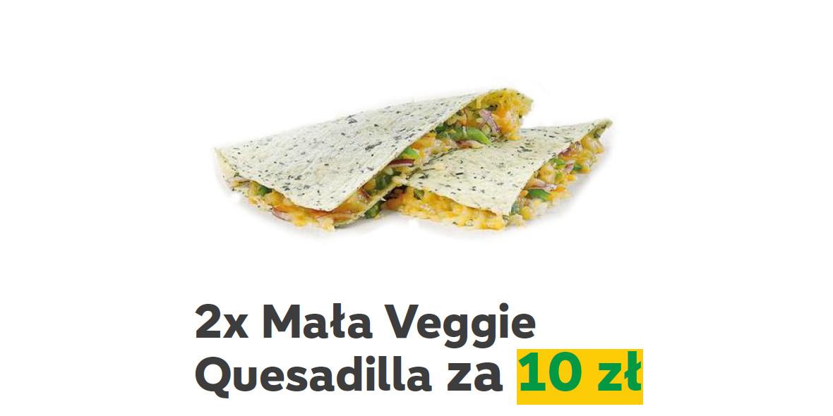 Subway: 10 zł 2x mała Veggie Quesadilla