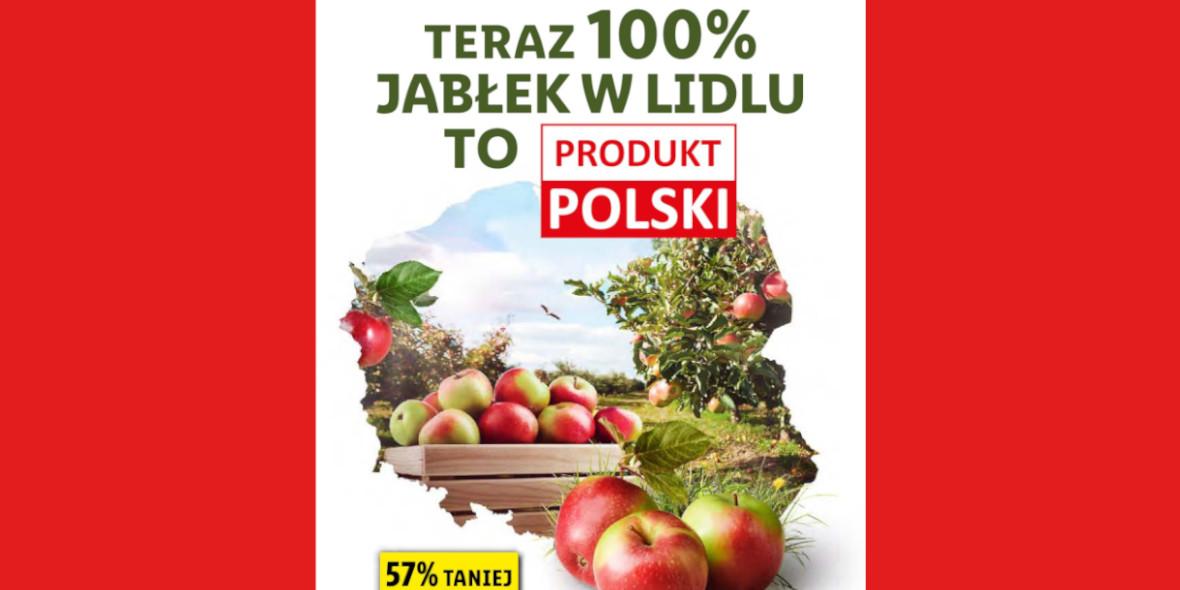 Lidl: -57% na polskie jabłka 14.10.2021
