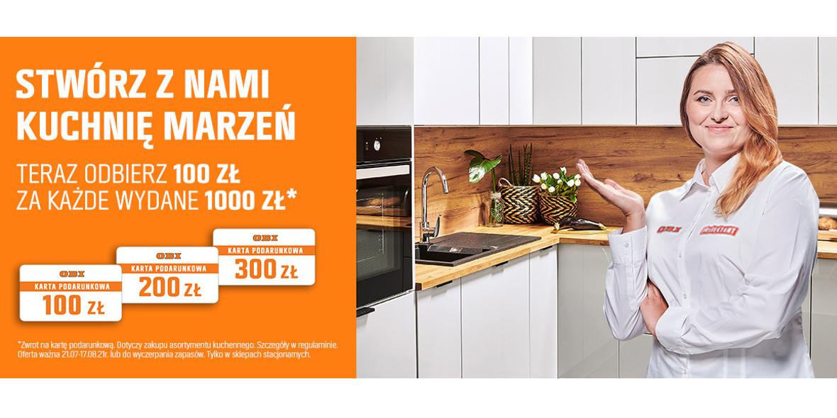 OBI: -100 zł za każdy wydany 1000 zł na meble kuchenne 23.07.2021