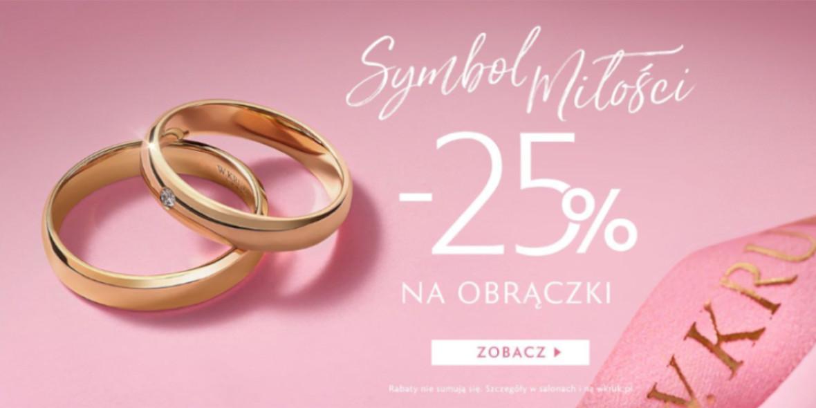 W. KRUK: -25% na obrączki ślubne W. Kruk 04.08.2021