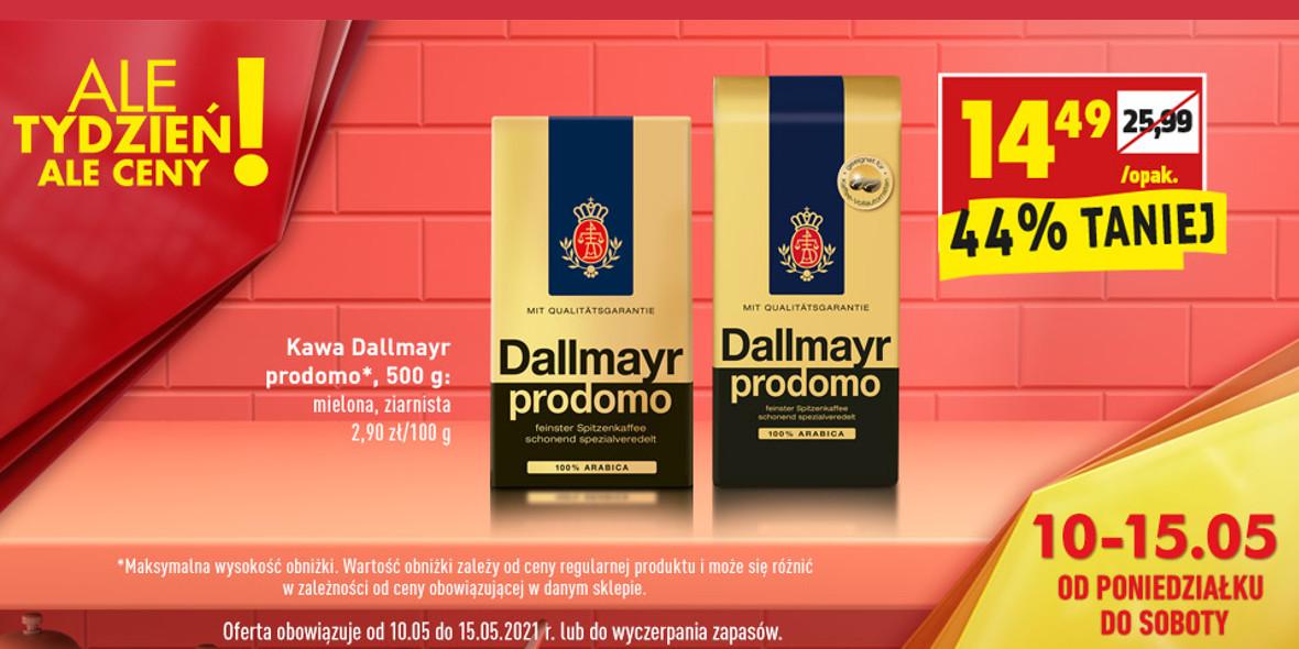 Biedronka:  -44% na kawę Dallmayr prodomo 10.05.2021