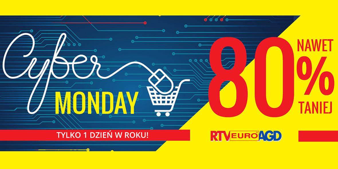 RTV EURO AGD: Do -80% Cyber Monday 01.11.2020