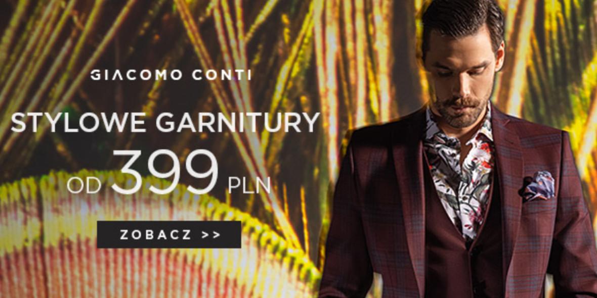 Giacomo Conti: Od 399 zł za stylowe garnitury