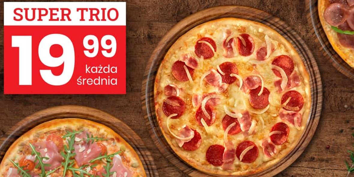 Telepizza: 19,99 zł każda średnia pizza przy zakupie trzech