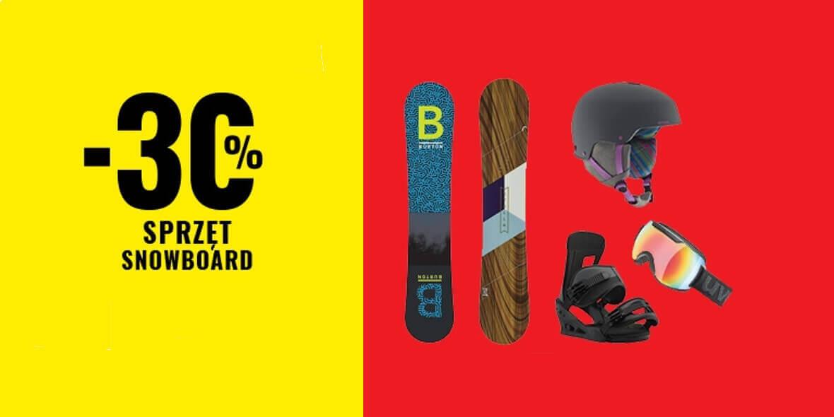 na sprzęt snowboardowy