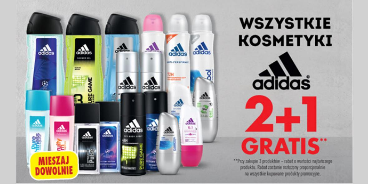Biedronka: 2 + 1 na wszystkie kosmetyki adidas 19.04.2021