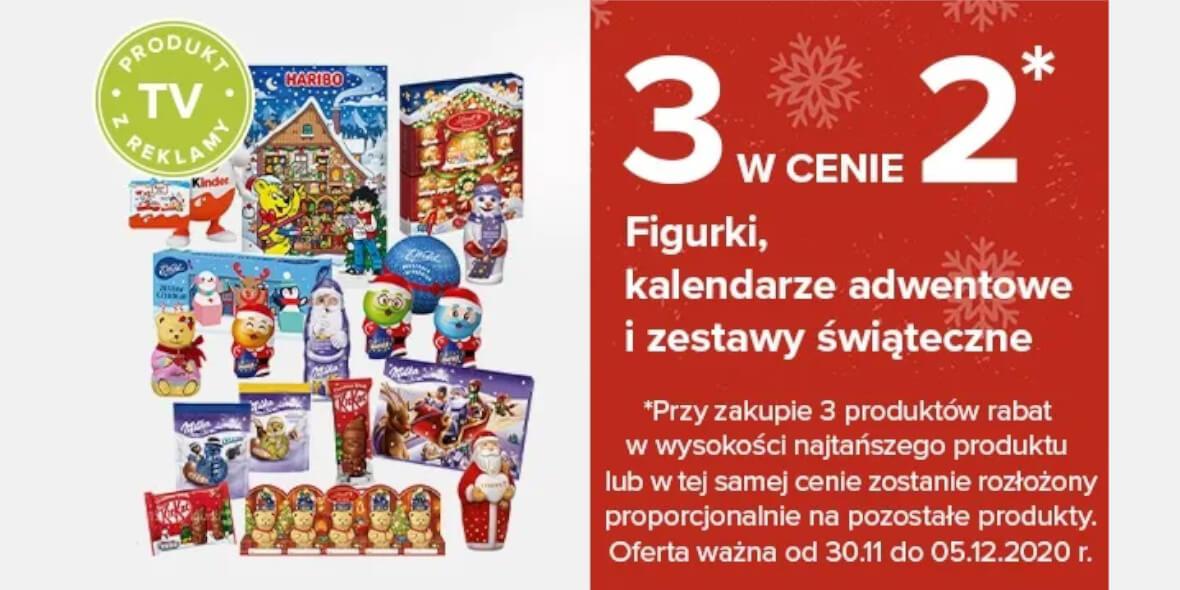 Carrefour: 3 w cenie 2 na słodkości 03.12.2020