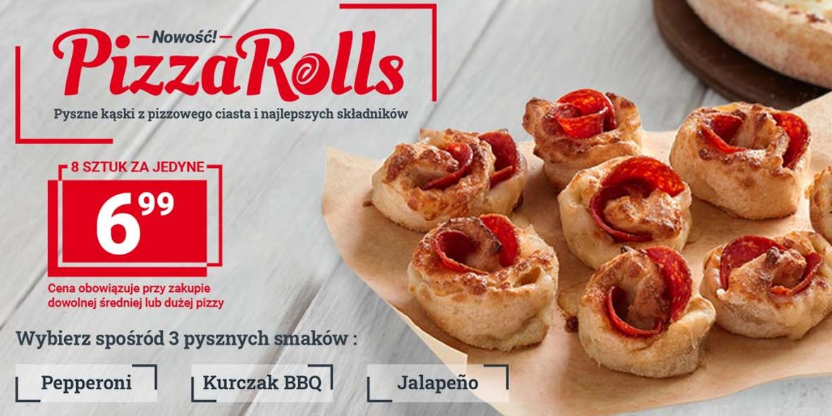 Telepizza:  6,99 zł za Pizza Rolls 21.01.2021