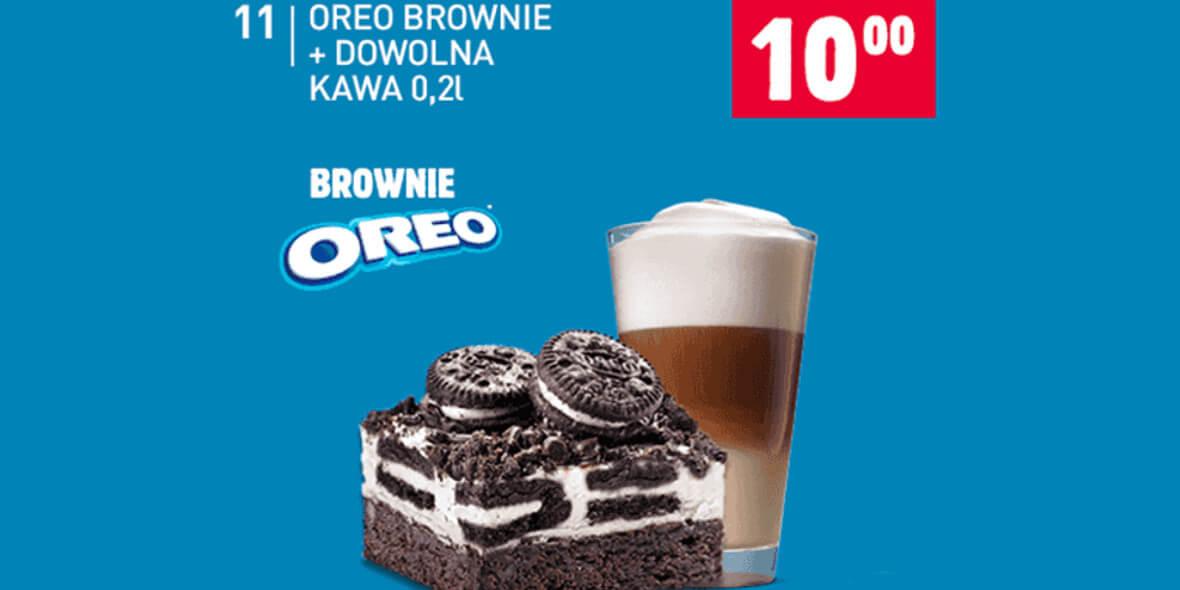 za Oreo Brownie + dowolna kawa 0,2l